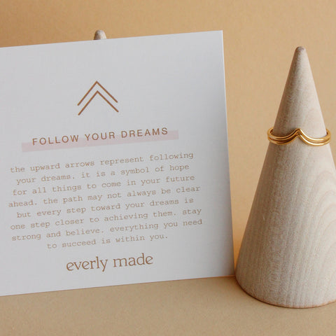 Follow Your Dreams Stacked Ring Set