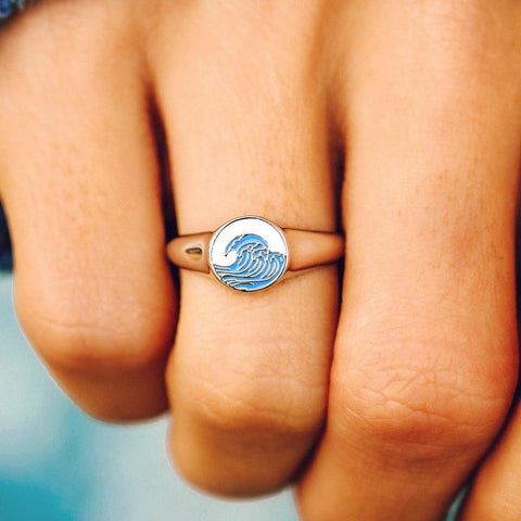 Pura Vida Bracelets - Make Waves Signet Ring