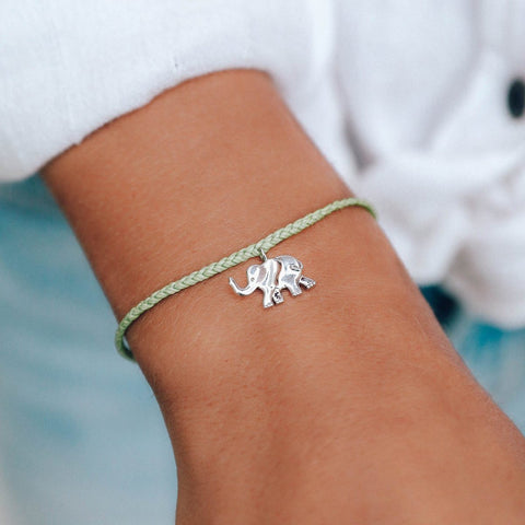 Pura Vida Bracelets - Save the Elephants Charm