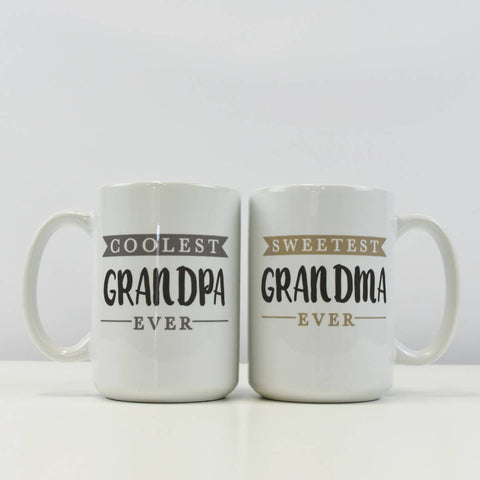 Coolest Grandpa and Sweetest Grandma Mugs
