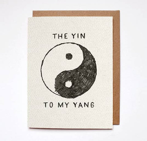 The Yin To My Yang Card
