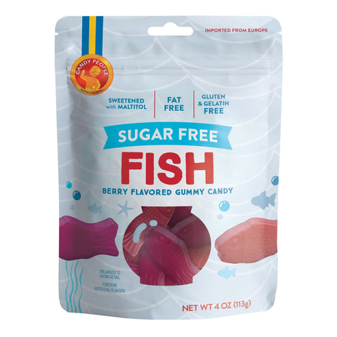 Candy People - Sugar Free Fish Gummy - 4oz