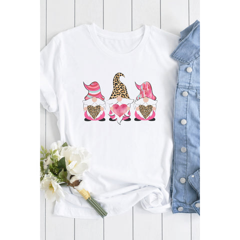Valentine's Day Gnome Shirt (Sizes: SM-2X)