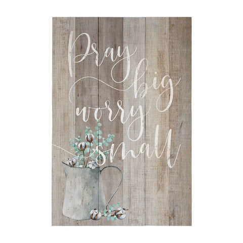 Pray Big Worry Small Wall Decor