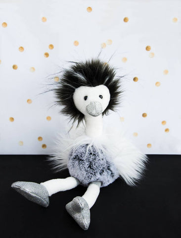 Ostrich Stuffed Animal with Glitter Accents