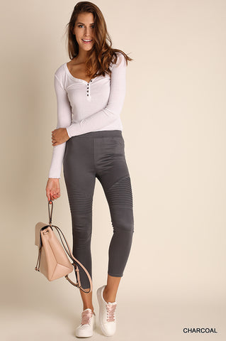 The Zoey Leggings - Charcoal (Size SM-2X)
