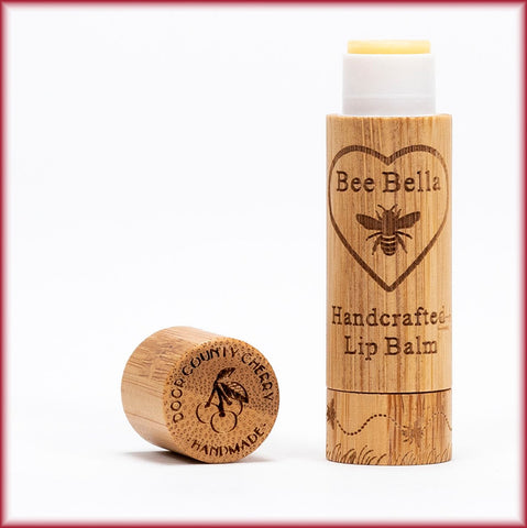 Bee Bella Natural Lip Balm - Door County Cherry