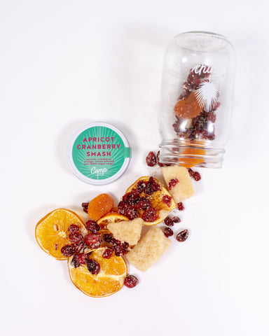 Apricot Cranberry Smash Camp Craft Cocktail