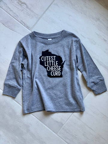 Cutest Little Cheese Curd Long Sleeve Top