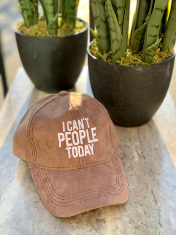 I Can't People Today Baseball Cap