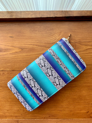 Blue Snakeskin Wallet