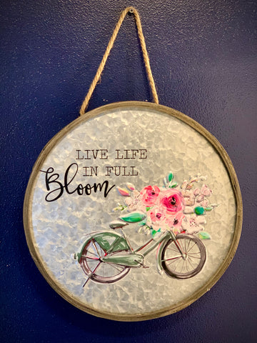 Live Life in Full Bloom Wall Hanging