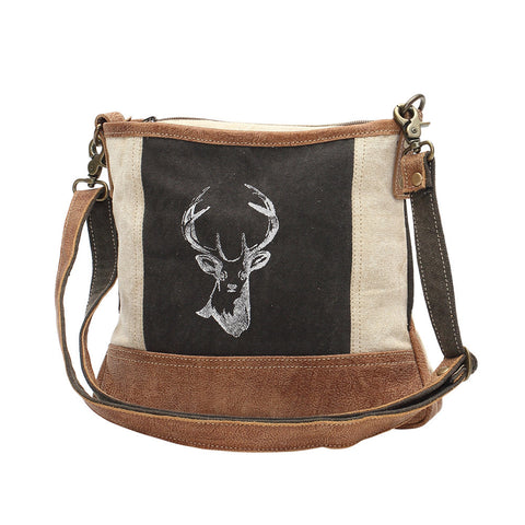 Myra Bags Reindeer Print Cross Body Bag