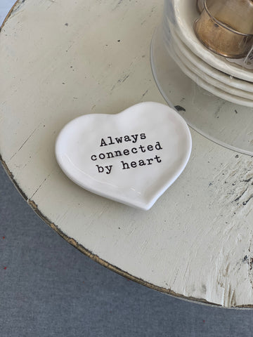 Always Connected By Heart Jewelry Dish