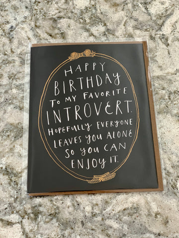 Happy Birthday to My Favorite Introvert Card