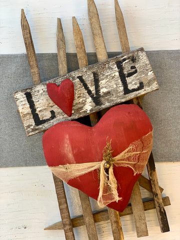 Love Picket Fence Wall Decor