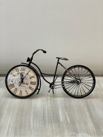 Black Clock Bicycle Decor