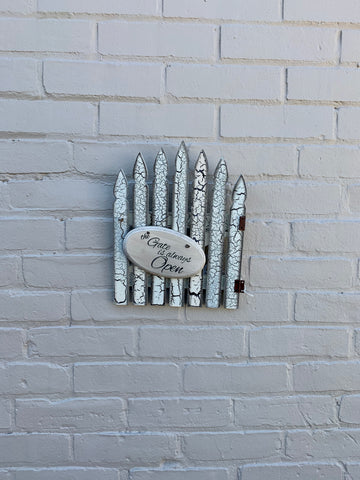The Gate is Always Open Picket Fence Wall Decor