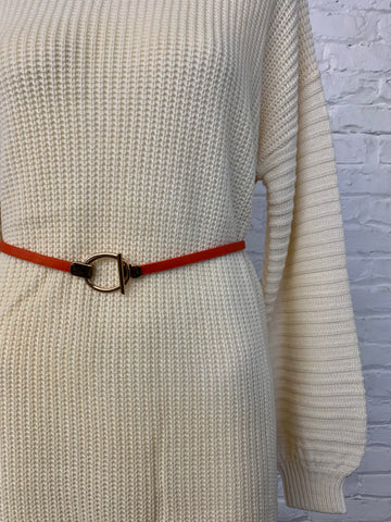 Circle Adjustable Belt - Orange
