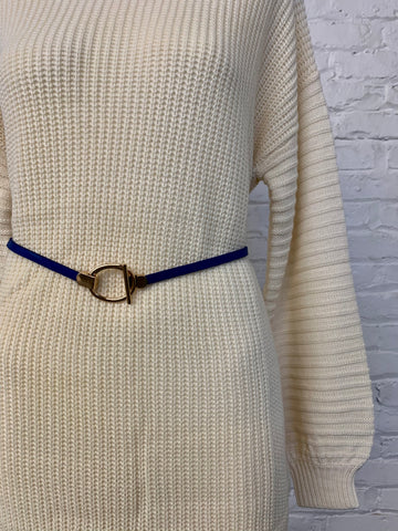 Circle Adjustable Belt - Navy