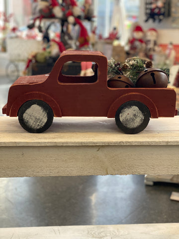Wood Red Truck with Bells