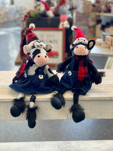 Holiday Winter Cow