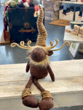 Plush Moose Plush with Hanging Legs
