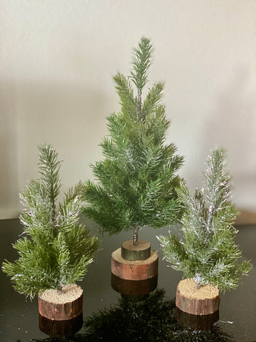 Mini Frosted Faux Fir Tree
