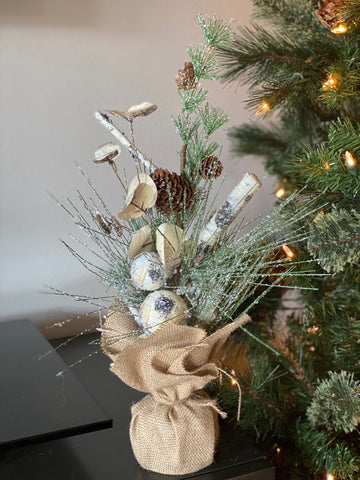 Flocked Pine Tree Decor