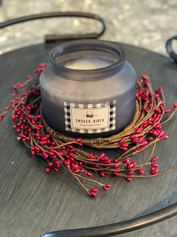 Red Seed Candle Wreathe - Large