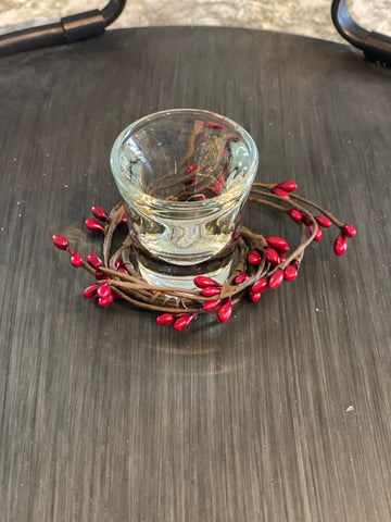 Red Seed Candle Wreathe - Small