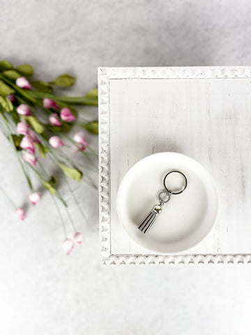 Gray Lined Circle Charm Diffuser Keychain