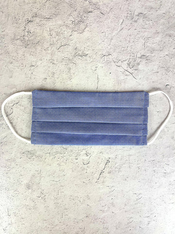 Linen Mask - Adult Blue Dot