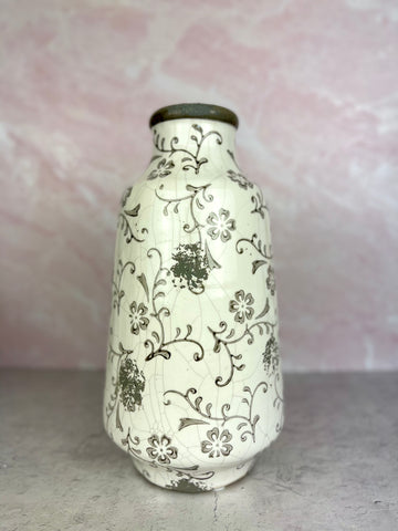 Tall Floral Filigree Vase