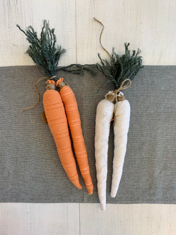 MW Crafted Fabric Carrots 2pc