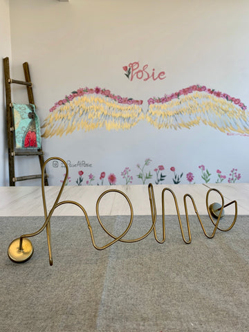 Metal Script Home Wall Hanging