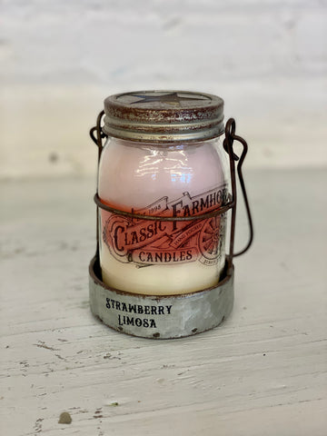 Classic Farmhouse Star Candle - Strawberry Limosa