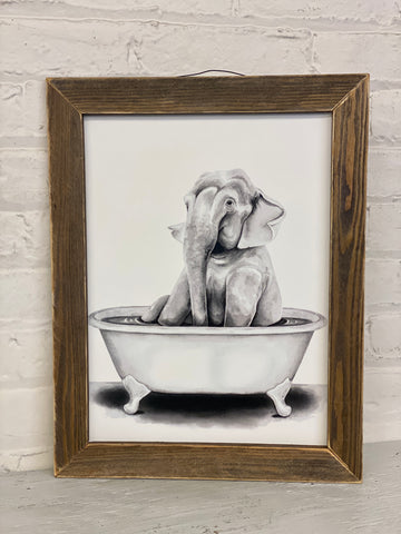 Jan Michaels' Elephant in Bathtub Sign