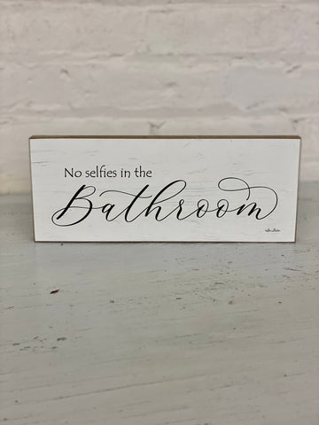 No Selfies In The Bathroom Shelf Decor