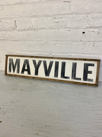 The Green Elephant Shop - Mayville Sign
