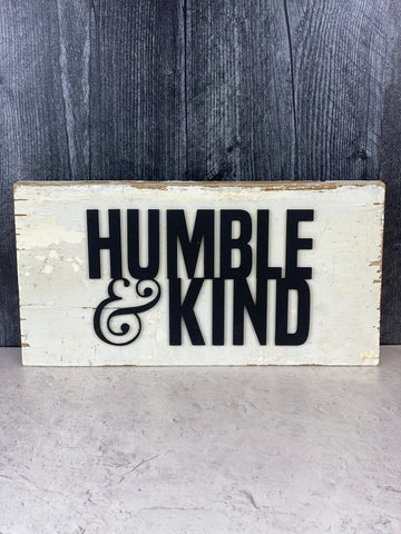 Humble & Kind Laser Cut Wood Wall Art