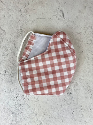 Gingham Mask - Adult Blush