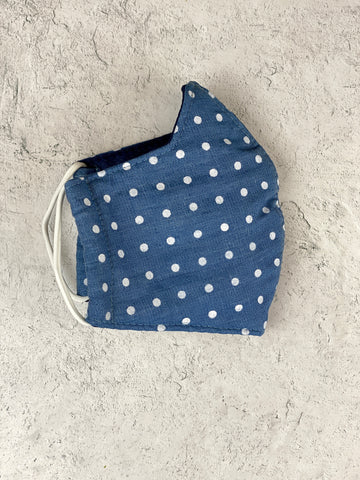 Dot Chambray Mask - Adult