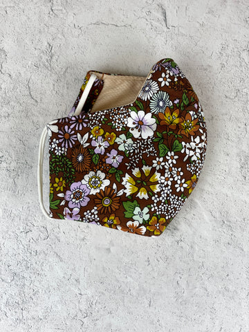 Floral Mask - Adult Brown