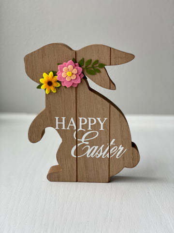 Happy Easter Bunny Shelf Decor