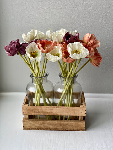 Two Vase Shelf Decor