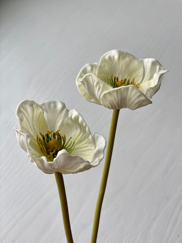 Poppy Stem - White
