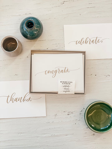 Thanks/Congrats/Celebrate Greeting Card Box