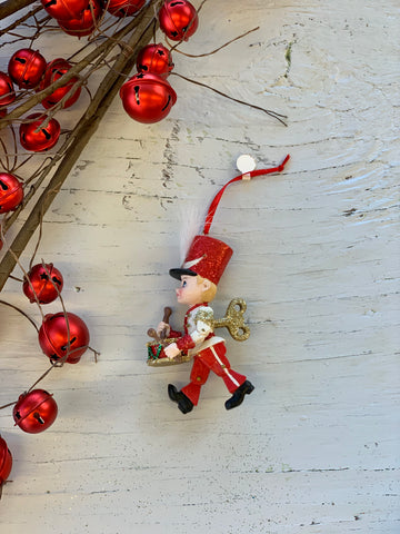 Sparkly Drummer Boy Ornament