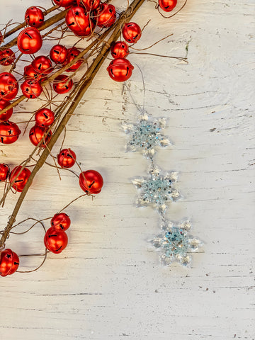 Puffy Clear Sparkle Snowflake Chain